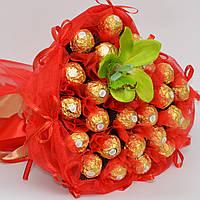 Букет из Ferrero Rocher./ Подарок на 14 февраля / букет на 8 марта / букет з цукерок / день влюблённых
