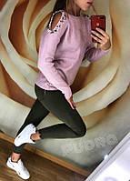 Женский свитер с бусинками фабричный Китай