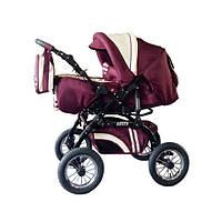 Универсальная коляска-трансформер Rover, Trans baby, т.красный+крем
