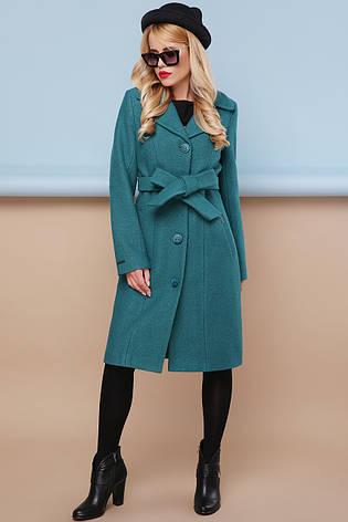 Женское шерстяное пальто, волна, р.46, фото 2