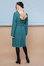Женское шерстяное пальто, волна, р.46, фото 3
