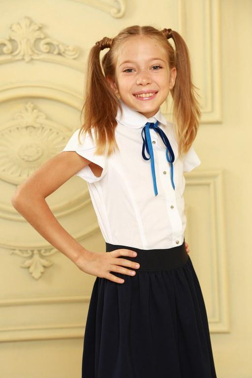 Стильная школьная блуза