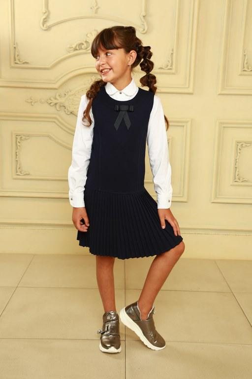 Модный школьный сарафан
