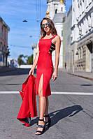 """Женское платье """"Наоми"""" с декором в расцветках. А-6-0818"""
