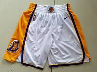 Nike белые шорты Los Angeles Lakers NBA  Swingman