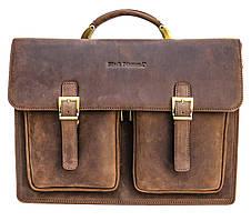 Мужской кожаный портфель Black Diamond BD50v2Ccrh