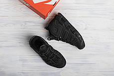 Мужские кроссовки в стиле Nike Air More Uptempo Triple Black (41, 42, 44 размеры), фото 3