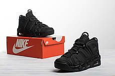Мужские кроссовки в стиле Nike Air More Uptempo Triple Black (41, 42, 44 размеры), фото 2