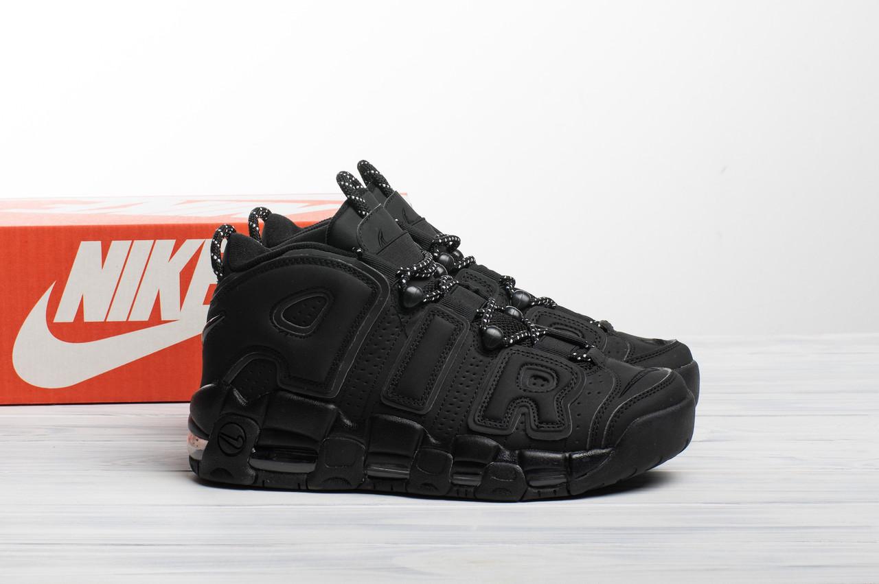 Мужские кроссовки в стиле Nike Air More Uptempo Triple Black (41, 42, 44 размеры)