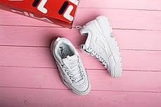Женские кроссовки в стиле FILA Disruptor All White (41 размер), фото 3