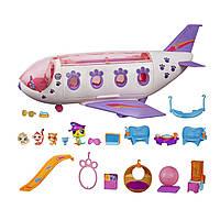 Набор Самолет и зверюшки литл пет шоп, Littlest Pet Shop Jet Playset, Hasbro Оригинал из США