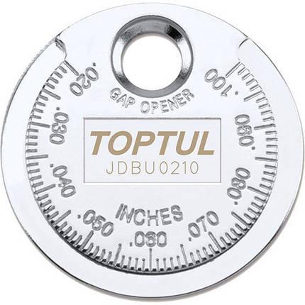 "Приспособление типа ""монета"" для проверки зазора между елетрод. cвечи  TOPTUL JDBU0210, фото 2"