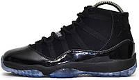Мужские кроссовки Nike Air Jordan 11 Gamma Black / Blue Retro 2013