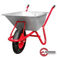 Тачка садово-будівельна одноколісна InterTool 85л,150кг