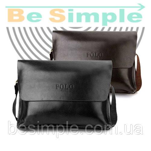 Кожаная сумка-портфель Polo Videng A4