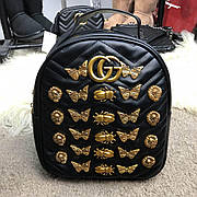 Женский рюкзак Gucci GG Marmont Animal Studs Black