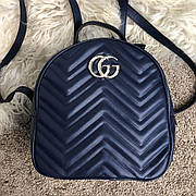 Женский рюкзак Gucci GG Marmont Quilted Blue