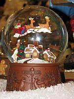 "Водный снежный шар ""Санта Летающий """