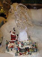 Музыкальная анимация Санта и ледяная скульптура