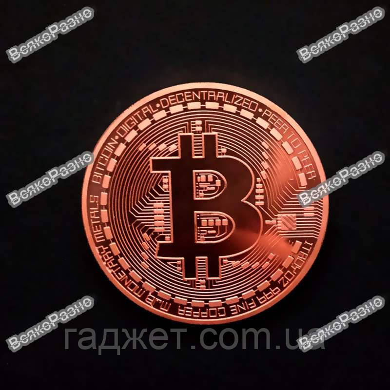 Сувенирная монета Bitcoin. Сувенирная монета Биткоин