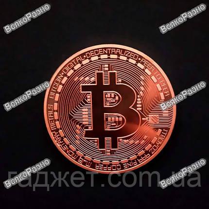 Сувенирная монета Bitcoin. Сувенирная монета Биткоин, фото 2