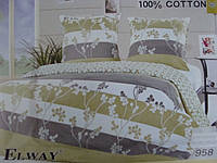 Сатиновое постельное белье полуторка ELWAY 958