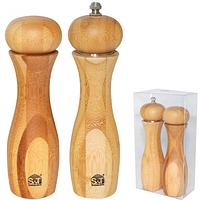 Набор 2 пр./Мельница для соли и перца бамбук (60020)
