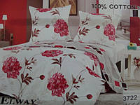 Сатиновое постельное белье полуторка ELWAY 3722