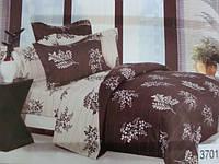 Сатиновое постельное белье полуторка ELWAY 3701