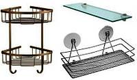 Мебель сантехническая: полочки, салфетницы, зеркала