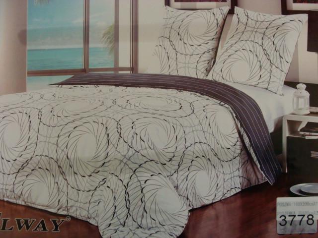 Сатиновое постельное белье полуторное ELWAY 3778