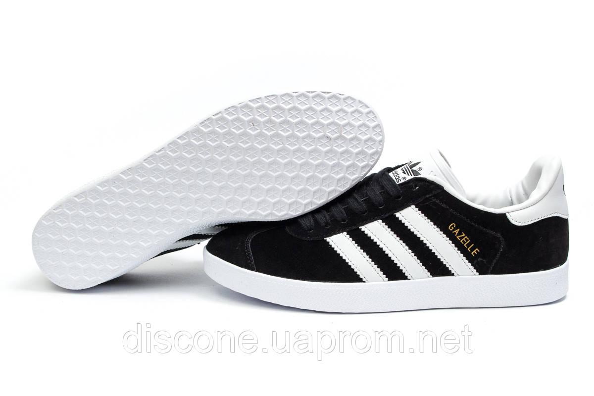 Кроссовки мужские ► Adidas Gazelle, черные (14131), р.  [  46 (последняя пара)  ] ✅Скидка 31% ✔ЧеРнАяПяТнИцА