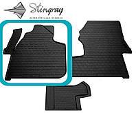 Volkswagen Crafter (1+1) 2006- Водительский коврик Черный в салон