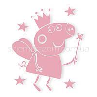 Термонаклейка Свинка Пеппа розовая