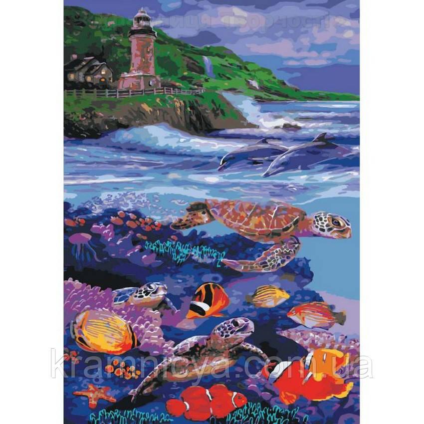 Картины по номерам Морское царство, 40х50 (КНО4031)