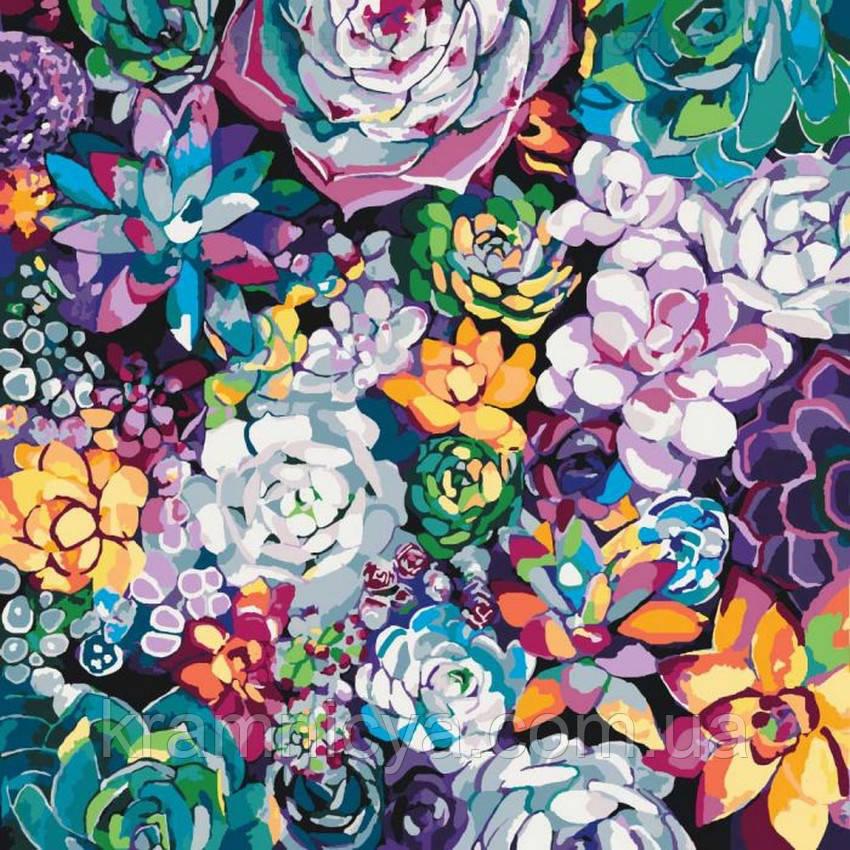 Картина по номерам Волшебные цветы, 40х40 (КНО3017)