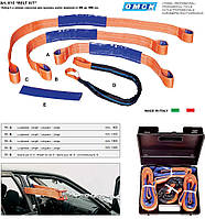 Набор мягких захватов (строп) для восстановления и рихтовки поврежденных кузов автомобиля.