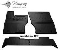 JAGUAR E-Pace 2017- Комплект из 4-х ковриков Черный в салон