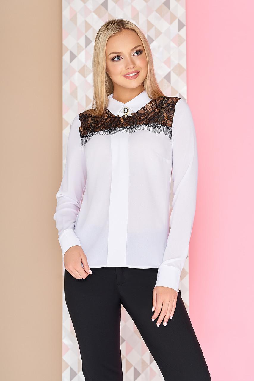 a439b517738 Блуза Алиа 42-50 белый-черный  продажа