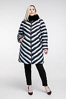 Зимняя длинная куртка с меховым воротником, с 48 по 62 размер , фото 1