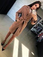 Кашемировое пальто с поясом Оливия, фото 1