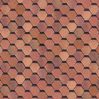 Битумная гибкая черепица SHINGLAS серия Классик коллекция Кадриль цвет  Красно-коричневый
