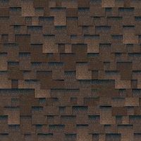 Битумная гибкая черепица SHINGLAS серия Классик коллекция Кадриль цвет  Аккорд-коричневый