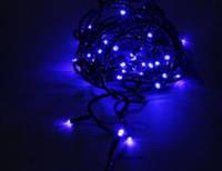 Гирлянда Нить (STRING) синяя 10 метров (черный кабель пвх БФ 2,2)