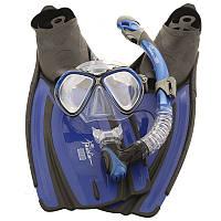 Набор маска с трубкой Marlin Miami Blue, размер 40/41