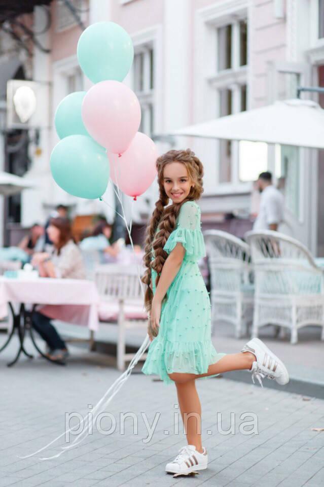 Платье на девочку с жемчугом