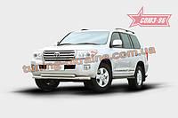 Защита переднего бампера труба d76/60 двойная Союз 96 на Toyota Land Cruiser 200 2012-2013