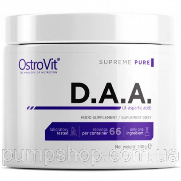 Д-аспаргиновая кислота Ostrovit Pure DAA 200 г