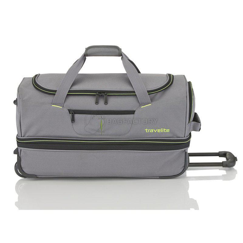 Дорожная сумка на 2 колесах Travelite BASICS Grey L exp. 98 119л  (TL096276-04) 46230c5e0d512