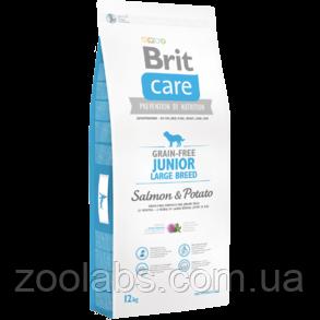 Корм Brit Care для щенков гигантских пород | Brit Care Junior Large Breed Salmon & Potato 12,0 кг, фото 2